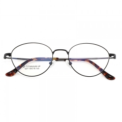 SY-1877 Literaty Titanium Glasses Frame Optical for Prescription