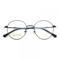 SY-1885 2019 fashion lightweight titanium round frame optical reading glasses