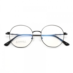 SY-1895 High Quality Round Silver Gold Titanium Eyeglasses Frames Optical Glasses