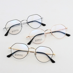 SY-1894 Wholesale Retro Round Thin Frame Titanium Alloy Glasses High Quality Trendy Optical Spectacles