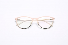 YXA161 Fashion clear frame rectangle pink pc optical glasses