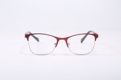 YX659 Stainless steel red optical eyewear wire metal frame glasses